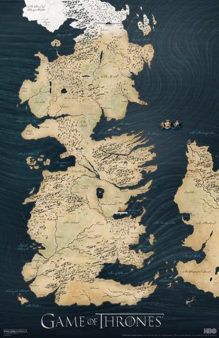 Game of Thrones - Map Masterprint