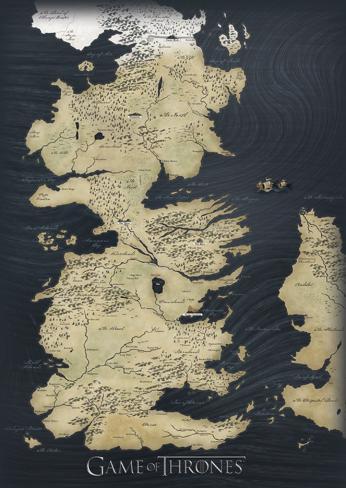 Game of thrones map reproduccin de lmina sobre lienzo en allposters game of thrones map reproduccin de lmina sobre lienzo gumiabroncs Gallery