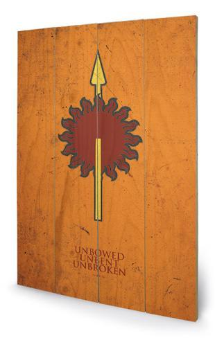 Game of Thrones - Martell Wood Sign