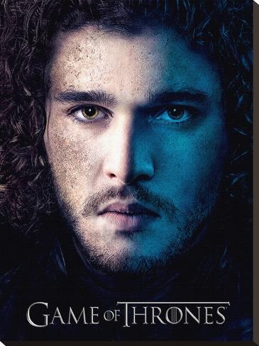 Game Of Thrones (Season 3 - Jon)  Stretched Canvas Print