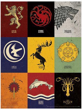Game Of Thrones Sigils Masterprint At Allposters Com