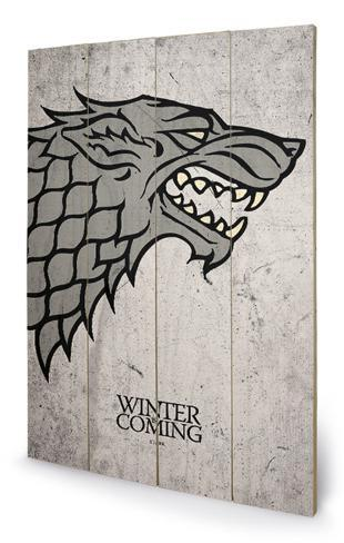 Game of Thrones - Stark Wood Sign