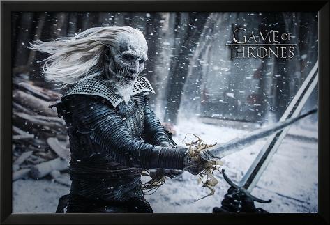 Game Of Thrones- White Walker Lamina Framed Poster