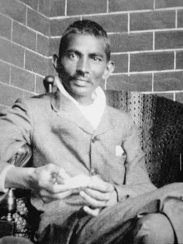 Gandhi Photographed in Johannesburg, Following His Release from Prison, 1908 Giclee Print