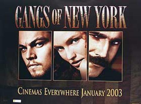 Gangs of New York (Leonardo Dicaprio, Cameron Diaz, Daniel Day Lewis) Movie Poster Poster originale