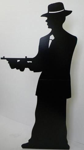 Gangster-Silhouette -Single Cardboard Cutouts