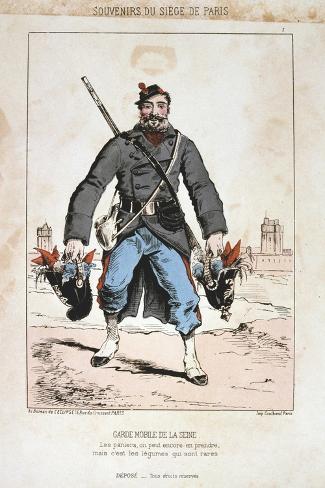 Garde Mobile De La Seine, Siege of Paris, 1870-1871 Giclee Print