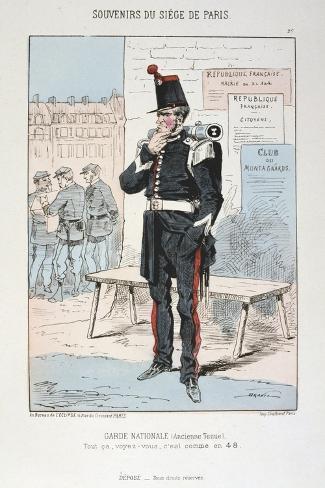 Garde Nationale (Ancien Tenu), Siege of Paris, Franco-Prussian War, 1870-1871 Giclee Print