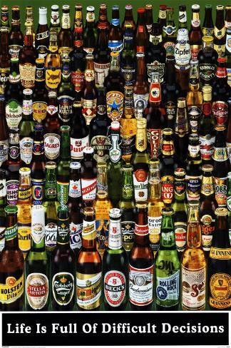 Garrafas de cerveja Pôster
