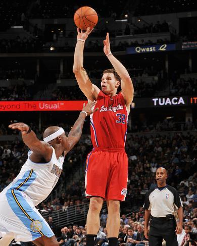 Los Angeles Clippers v Denver Nuggets: Blake Griffin and Al Harrington Photo