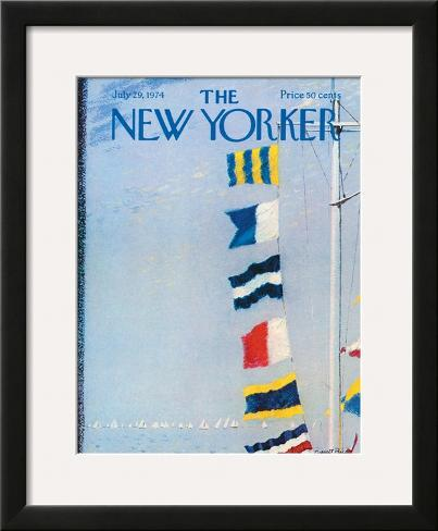 The New Yorker Cover - July 29, 1974 Framed Giclee Print