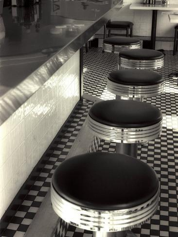 50s Style Cafe Photographic Print