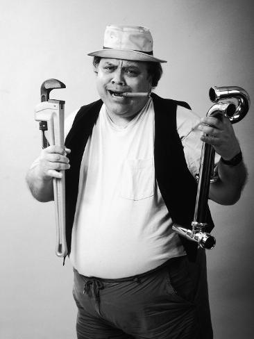 Plumber with Cigar Photographic Print
