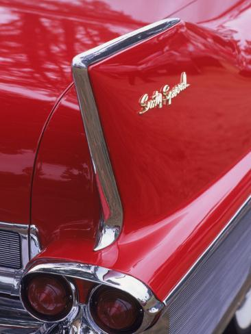 Taillight and Fin of 1958 Fleetwood Photographic Print