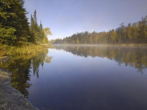 Hoe Lake, Boundary Waters Canoe Area Wilderness, Superior National Forest, Minnesota, USA Photographic Print