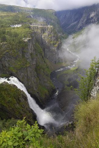 Voringfoss Waterfall, Near Eidfjord, Hordaland, Norway, Scandinavia, Europe Photographic Print
