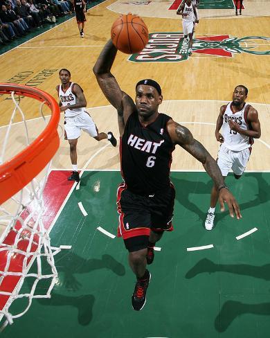 Miami Heat v Milwaukee Bucks: LeBron James Photo