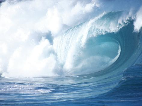 Big Waves on the North Shore of Oahu, HI Photographic Print