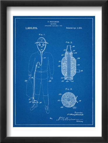 Gas Mask Patent Framed Art Print