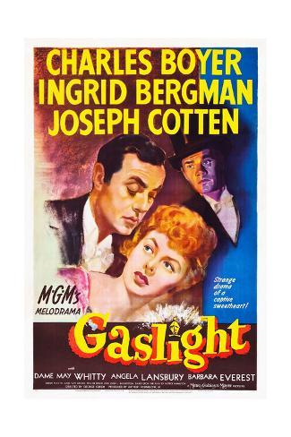 Gaslight, Charles Boyer, Ingrid Bergman, Joseph Cotten, 1944 Art Print