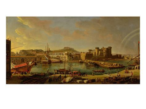 The Port at Naples (View of the Castel Nuovo at the Palazzo Reale), 1711 Giclee Print