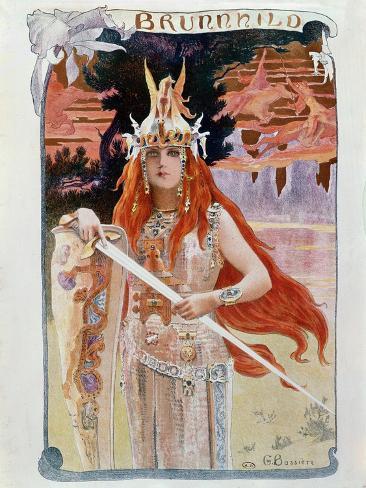 Brunnhilde, Illustration from Die Walkure by Richard Wagner Giclee Print