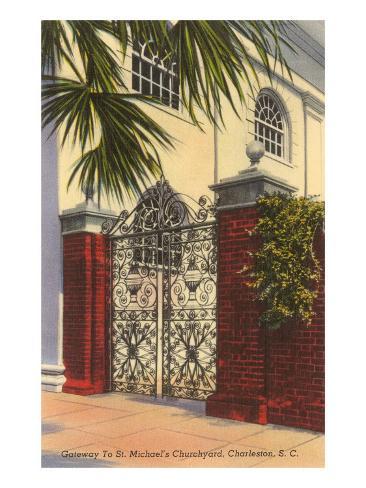Gateway to St. Michael's Church, Charleston, South Carolina Art Print