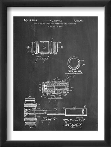 Gavel Patent Office Art Framed Art Print