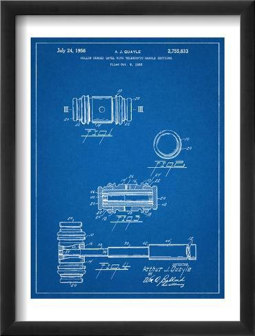 Gavel Patent Office Patent Framed Art Print