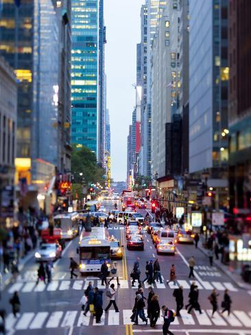 42nd Street in Mid Town Manhattan, New York City, New York, United States of America, North America Photographic Print