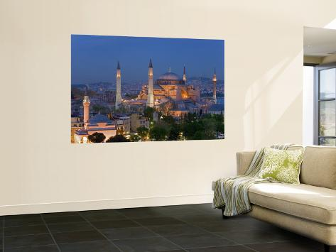 Aya Sofya Sultanahmet, Unesco World Heritage Site, Istanbul, Turkey Wall Mural