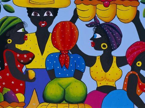 Cuban Painting, Havana, Cuba, West Indies, Central America Photographic Print