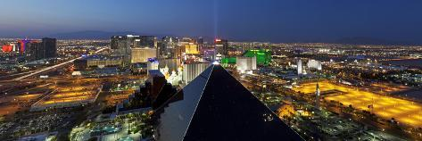 Elevated View of Casinos on the Strip, Las Vegas, Nevada, USA Photographic Print