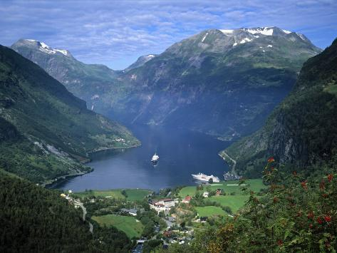 Geiranger Fjord, Western Fjords, Norway Photographic Print