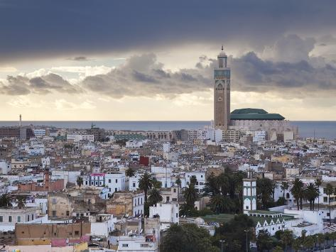 Hassan Ii Mosque, the Third Largest Mosque in the World, Casablanca, Morocco, North Africa Photographic Print