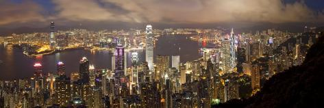 Hong Kong, View from Victoria Peak, China Photographic Print