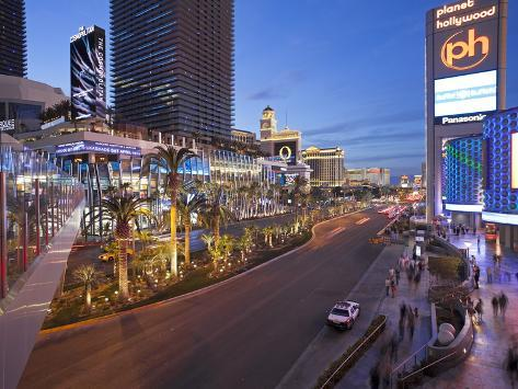 Hotels and Casinos Along the Strip, Las Vegas, Nevada, United States of America, North America Photographic Print