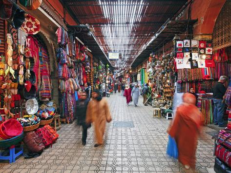 In the Souk, Marrakech, Morocco, North Africa, Africa Photographic Print