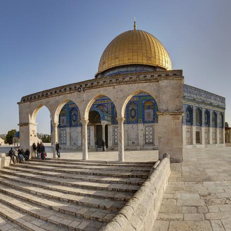Israel, Jerusalem, Temple Mount, Dome of the Rock Photographic Print