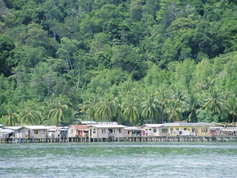 Kota Kinabalu, Sabah, on the Island of Borneo, Malaysia Photographic Print