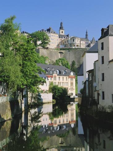 Luxembourg City, Old City and River, Luxembourg Photographic Print