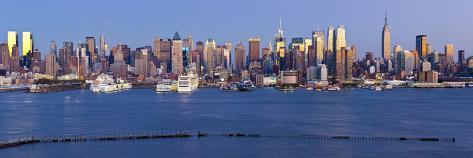 Manhattan, View of Midtown Manhattan across the Hudson River, New York, USA Photographic Print
