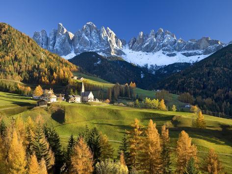 Mountains, Geisler Gruppe/ Geislerspitzen, Dolomites, Trentino-Alto Adige, Italy Photographic Print