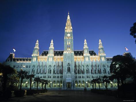 Rathaus, Vienna, Austria Stampa fotografica