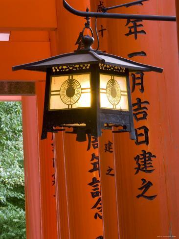 Red Torii Gates, Fushimi Inari Taisha Shrine, Kyoto, Japan Photographic Print