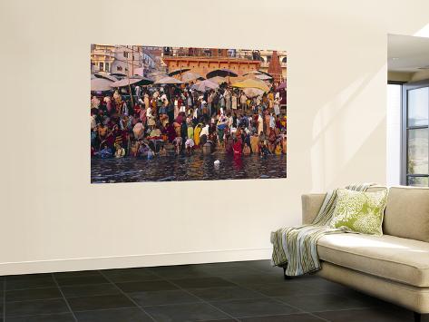 River Ganges, Varanasi, Uttar Pradesh, India Giant Art Print