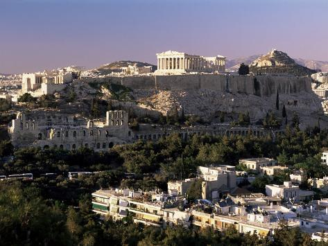 The Acropolis, Parthenon and City Skyline, Athens, Greece Photographic Print