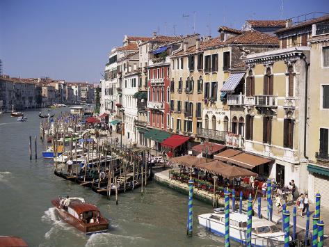The Grand Canal from the Rialto Bridge, Venice, Veneto, Italy Photographic Print