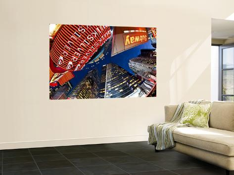 USA, New York City, Manhattan, Times Square, Neon Lights of 42nd Street Giant Art Print