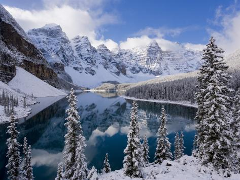 Wenkchemna Peaks and Moraine Lake, Banff National Park, Alberta, Canada Photographic Print